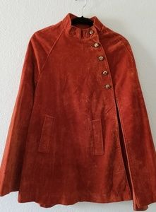 Stunning Vintage Crushed Velour Cape